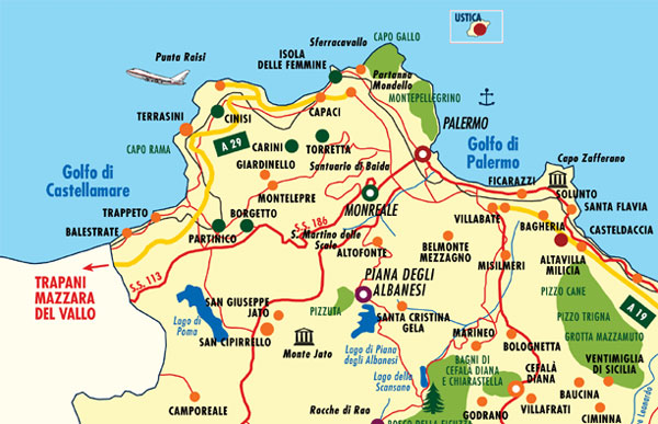 Cartina Sicilia Mondello.Comuni